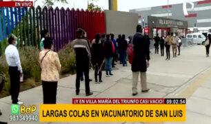 San Luis: forman colas de casi 4 cuadras para ser vacunados contra la covid-19
