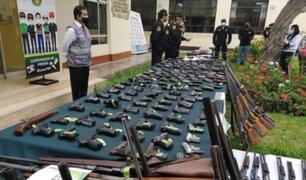 Más de 200 armas de fuego fueron decomisadas en distintos operativos en La Libertad