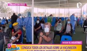 El Agustino: así avanza el proceso de vacunación a mayores de 65 años