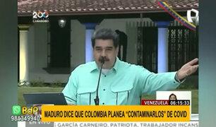 """Maduro asegura que Colombia quiere abrir las fronteras para """"contaminarlos"""" de COVID-19"""