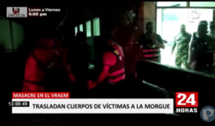 Cuerpos de víctimas de atentado en Vraem a la espera de ser retirados
