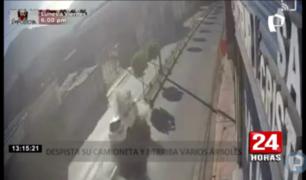 Moquegua: camioneta se despista y ocupantes se dan a la fuga