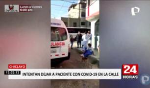 Chiclayo: personal de hospital intentó dejar en la calle a un paciente COVID-19