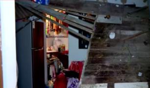 Vivienda de quinta en La Victoria es declarada no habitable tras derrumbe