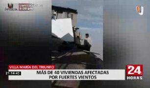 Viviendas con daños dejaron fuertes vientos registrados en VMT el último lunes