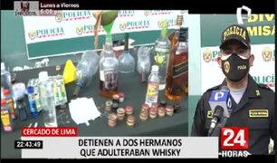 Cercado de Lima: PNP detuvo a la banda 'Los falsos del Whisky'