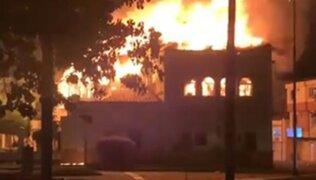Colombia: queman palacio de Justicia tras enfrentamiento entre manifestantes y policías