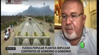 Fuerza Popular plantea impulsar contratos de gobierno a gobierno para eficacia en las obras y megaproyectos