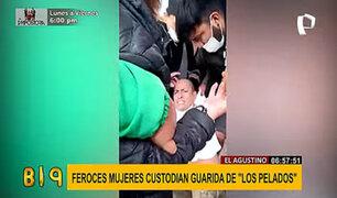 """El Agustino: PNP se enfrenta a familiares de """"Los Pelados"""" para evitar su intervención"""