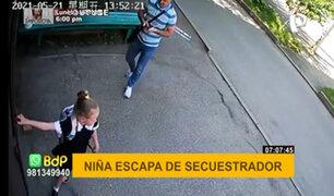 ¡Atención papás! así escapó una niña de un presunto secuestrador