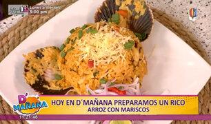 D'Mañana comparte una exquisita receta criolla: arroz con mariscos