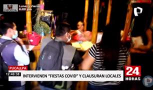 Pucallpa: decenas de intervenidos tras operativo en locales nocturnos