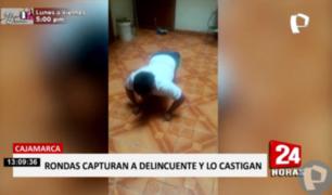 Cajamarca: rondas urbanas capturan y castigan a ladrón