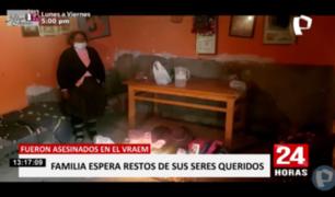 Huancayo: familia espera cuerpos de víctimas de masacre en el Vraem
