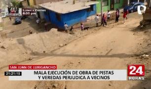 SJL: municipio anunció que en 10 días terminarán obras paralizadas y que aquejan a los vecinos