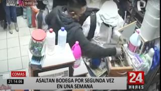 Comas: delincuentes roban bodega dos veces en tan solo una semana