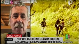 Fuerza Popular sostiene que usar la inteligencia policial es la clave para acabar con Sendero Luminoso