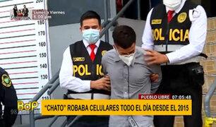 """Pueblo Libre: capturan a """"el chato"""" tras robar un costoso celular de un joven"""