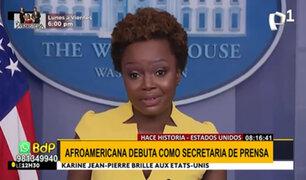 Karine Jean-Pierre hace historia como portavoz de la Casa Blanca