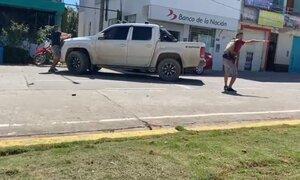 Así se enfrentaron policías y delincuentes durante asalto a Banco de la Nación