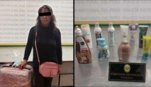 Detienen a mujer que intentó trasportar droga a México en productos de aseo