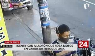 Ladrón de chompa a rayas se ha convertido en el terror de los motociclistas en la capital