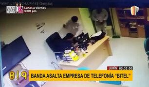 Lurín: delincuentes maniatan y asaltan a trabajadores de empresa de telefonía