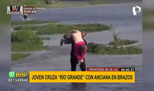 Migración en EEUU: hombre cruza río fronterizo con anciana en brazos