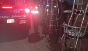Ante resistencia de infractores autoridades  intervienen a  balazos local nocturno en Juliaca