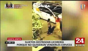 Santa Anita: sujetos atacaron licorería por no atenderlos porque era toque de queda