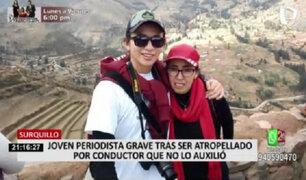 Periodista se debate entre la vida y la muerte tras ser atropellado en Surquillo