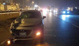 Lurín: choque entre  auto y camión deja dos fallecidos en la Panamericana Sur