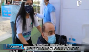 Vacunación en San Borja: Jóvenes llegan de diversos distritos para ayudar en inmunización