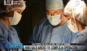 INSN Breña: compleja cirugía permitió extirpar tumor de abdomen a niño de tres años