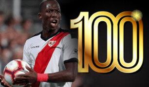 Luis Advíncula disputó su partido número 100 con el Rayo Vallecano