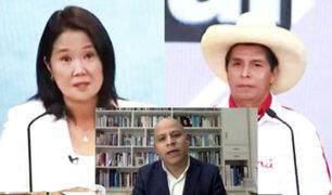 """Analista José Requena: """"Keiko Fujimori ha tenido más oficio que Pedro Castillo"""""""