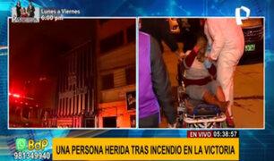 La Victoria: incendio en tercer piso de galería textil deja una persona herida