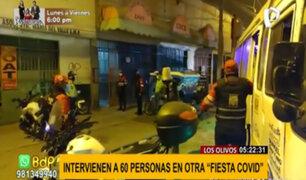 'Fiesta Covid' en Los Olivos: intervienen a cerca de 50 personas en local clandestino