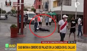 Pelea de construcción civil en Callao: Obrero casi muere tras recibir un 'palazo' en la cabeza
