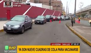 Vacuna Covid-19: autos hacen colas de hasta 9 cuadras para ingresar a La Videna