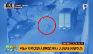 Chorrillos: roban furgoneta que empresaria no había terminado de pagar