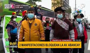 Piden distritalización: manifestantes caminan 6 días desde Huancavelica a Lima