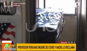 Profesor peruano muere de covid en Bolivia: su cadáver permanece tres días en una oficina