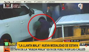 """Usan nueva modalidad de estafa en Chile llamada """"la llanta mala"""""""