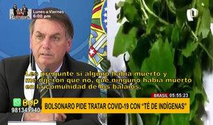 """Brasil: Bolsonaro insta a la población a tratar COVID-19 con """"té de indígenas"""""""