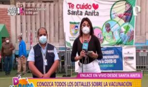 Santa Anita: así se vacunan hoy mayores de 63 y 64 años contra la COVID-19