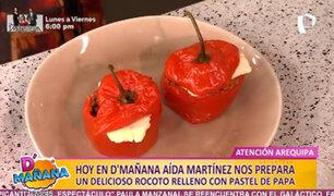 D'Mañana: Aida Martínez prepara un delicioso rocoto arequipeño con pastel de papa
