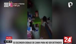 Piura: se esconden bajo cama para evitar intervención en 'fiesta COVID'