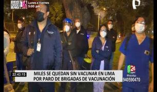 Médicos y enfermeras encargados de las inmunizaciones realizaron paro este lunes