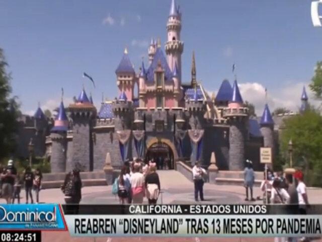 EEUU: Disney reabrió parque temático en California tras 13 meses por pandemia